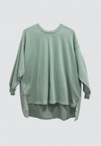 FALL LOOSE TOP IN MINT GREEN