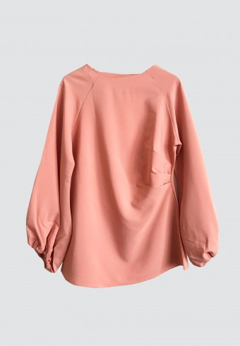 SIDE PLEATED PLAIN TOP IN PEACH 7