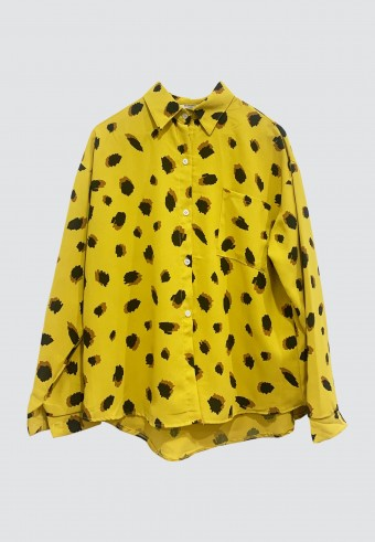 LEOPARD PRINTED TOP IN YELLOW