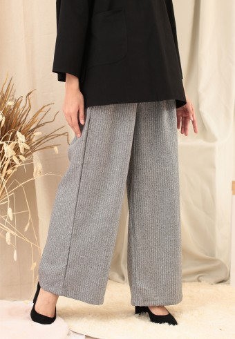 STRIPE PALAZZO PANT IN LIGHT GREY