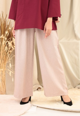 STRIPE PALAZZO PANT IN DUSTY PINK