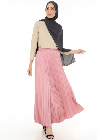 EXTRA PLEATED SKIRT IN PINK 5